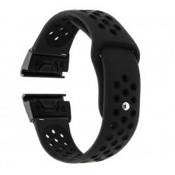 Curea ceas Smartwatch Garmin Fenix 5, 22 mm iUni Silicon Sport Negru