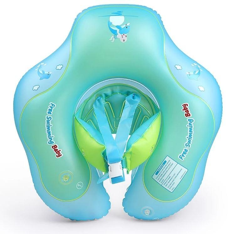 Colac Gonflabil Marime XL pentru Bebelusi 19cm Talie, Circular cu dublu set de inele prindere imagine techstar.ro 2021