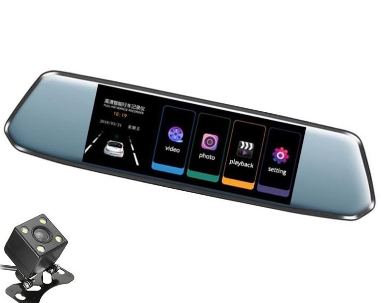 "Camera Video Auto Dubla tip Oglinda L809 DVR Techstar® 7"""" 5MP 170 Grade FullHD 1080P, TouchScreen imagine techstar.ro 2021"