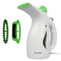 Fier de Calcat Techstar® H2O cu Aburi Portabil si Calcare Verticala, Culoare Alb-Verde, 600 W