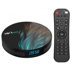 TV Box HK1 Max RK3318 2.4GHz Android 9.0 KODI 18.0, 4GB RAM si 32GB ROM, UltraHD 4K, Mini PC, BT 4.0, WiFi, LAN, Netflix