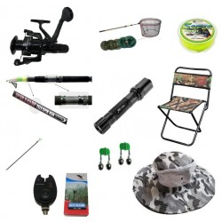 Set cu lanseta pescuit telescopica 3.6m, mulineta pentru Pescuit Sportiv si accesorii