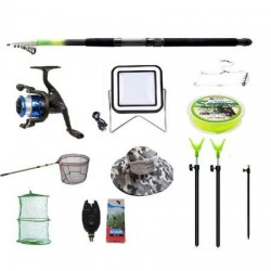 Set lanseta 3.6m pescuit sportiv, mulineta BH200, fir, montura, proiector solar