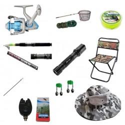 Set complet pescuit cu lanseta telescopica 3.6m, mulineta pentru Pescuit Sportiv si accesorii