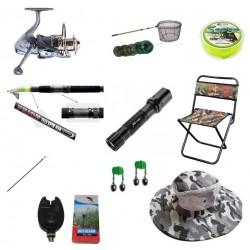 Set pescuit cu lanseta telescopica 3.6m, mulineta pentru Pescuit Sportiv si accesorii