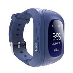Ceas Smartwatch pentru Copii Albastru Inchis Q50+ Slot Cartela SIM, GPS Tracker, Buton Urgenta SOS, Monitorizare Live