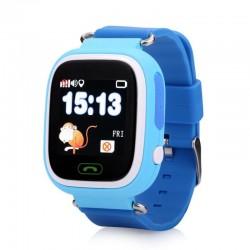 Ceas Smartwatch pentru Copii Albastru Q90 Slot Cartela SIM, GPS Tracker, Wi-Fi, Buton Urgenta SOS, Monitorizare Live