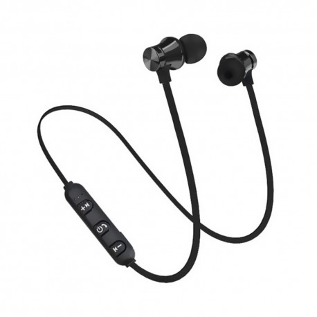 Casti Wireless Bluetooth Sport BT4, Waterproof, Tip In-Ear Headset, Microfon Incorporat, Negru