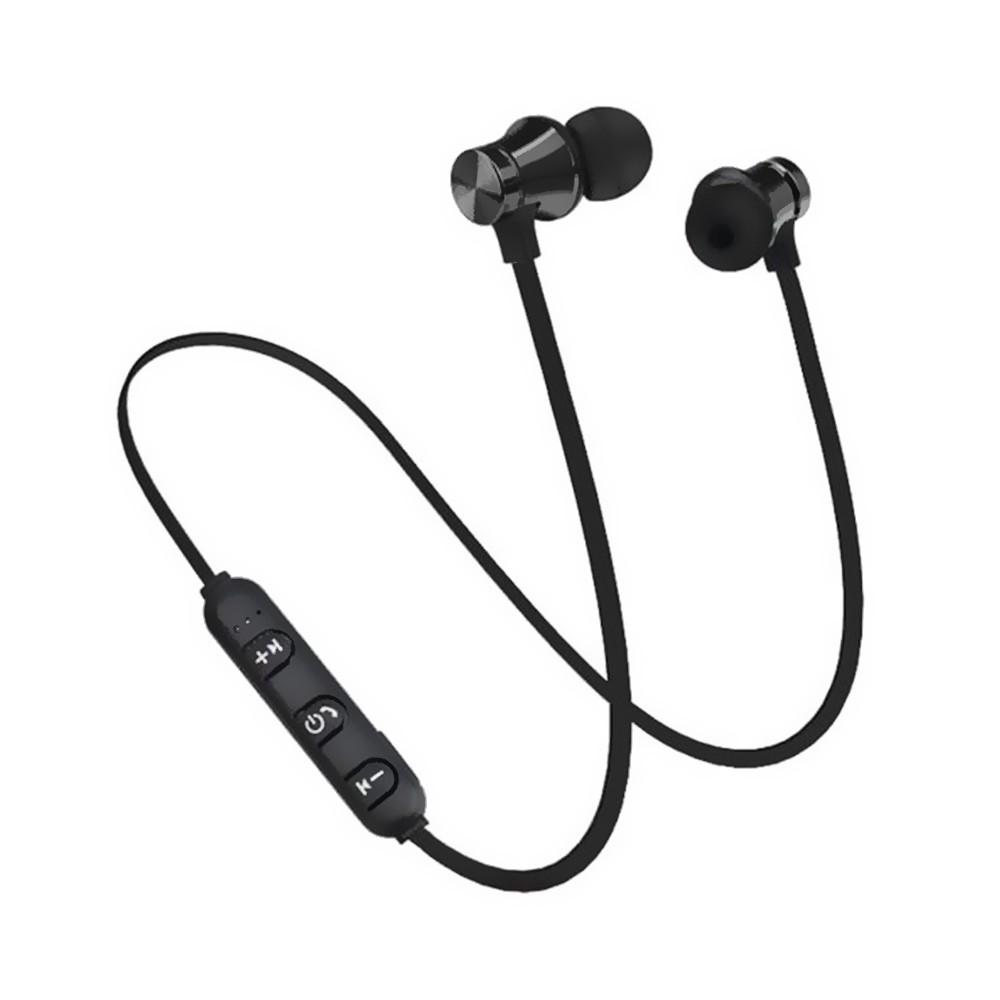 Casti Wireless Bluetooth Sport BT4, Waterproof, Tip In-Ear Headset, Microfon Incorporat, Negru