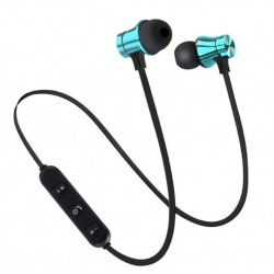Casti Wireless Bluetooth Sport BT4, Waterproof, Tip In-Ear Headset, Microfon Incorporat, Albastru