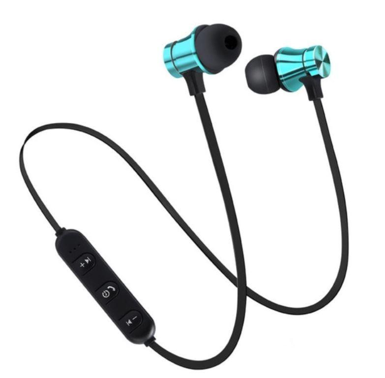 Casti Wireless Bluetooth Sport BT4, Waterproof, Tip In-Ear Headset, Microfon Incorporat, Albastru