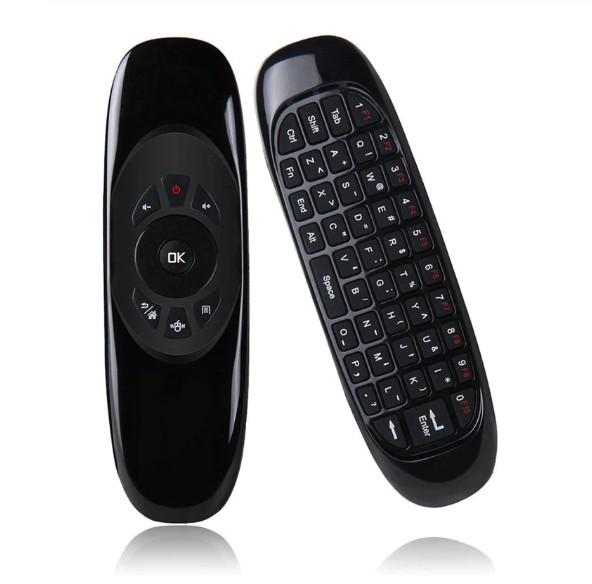 Tastatura QWERTY + Air Mouse + Telecomanda Mini Smart Kodi C2 2.4G, Gyroscop si IR PC, Smart TV, Android Box imagine techstar.ro 2021