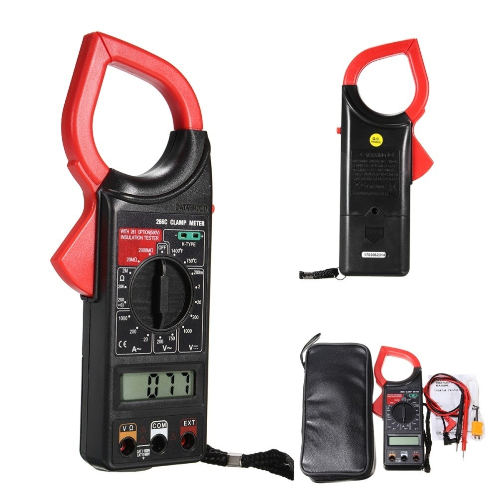 Multimetru Tester Digital Tip Cleste Ampermetru DT-266C cu Functia Hold + Temperatura imagine techstar.ro 2021