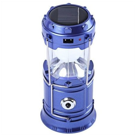 Felinar Camping LED Reincarcabil cu Lanterna – Panou Solar si USB