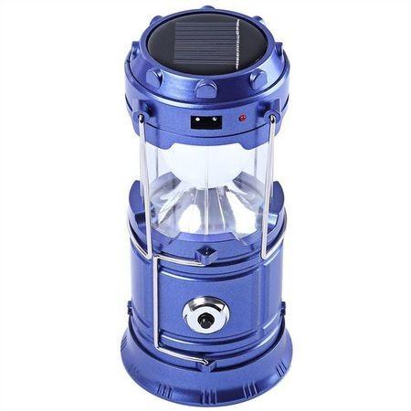 Felinar Camping LED Reincarcabil cu Lanterna – Panou Solar si USB imagine techstar.ro 2021