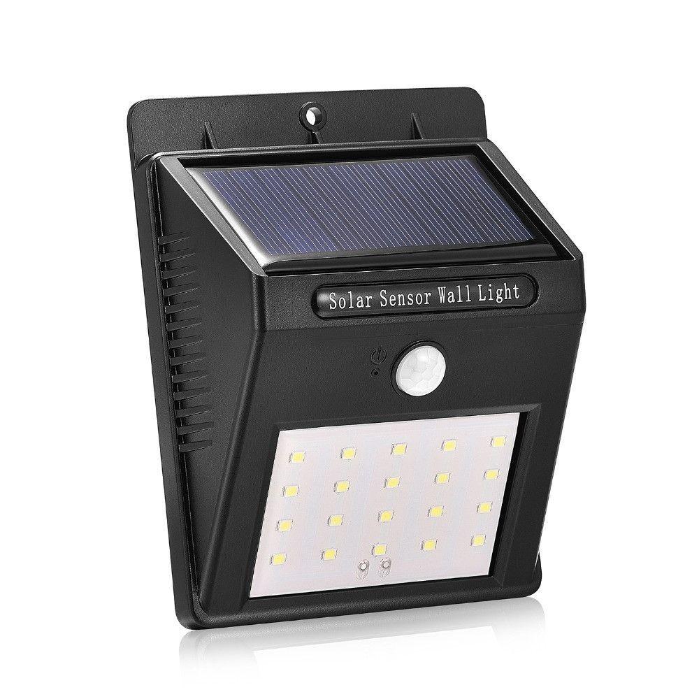 Lampa solara de perete cu senzor de miscare cu 20 leduri imagine techstar.ro 2021