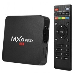 Mini PC Android 7 Media Player, TV Box MXQ PRO UltraHD 4K Quad-Core 64 Bit 1GB RAM, 8GB ROM Wireless, Ethernet