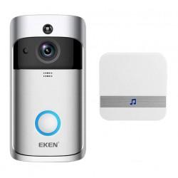 Sonerie Alarma Wireless Smart Eken S1 Pro, Fara Fir, Originala Nightvision, Infrarosu, Sonerie Interior, Comunicare Duala