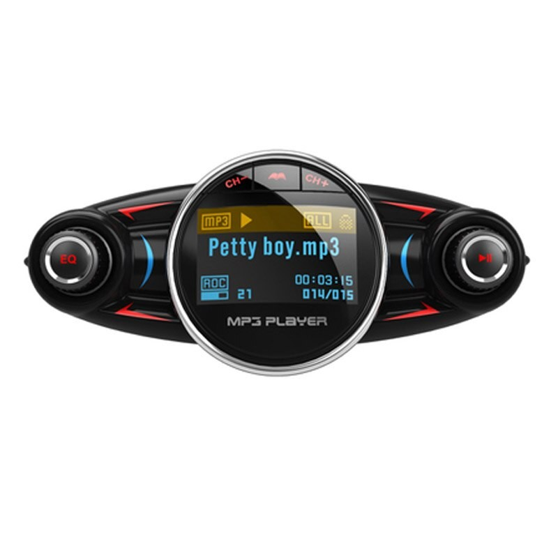 Modulator Transmitator FM Auto Techstar® BT-08, Bluetooth 4.0, Car Kit Handsfree, MP3 Player cu Display LED imagine techstar.ro 2021