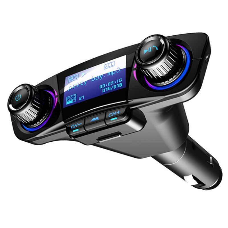 Modulator Transmitator FM Auto Techstar®, BT-06 Bluetooth 5.0, MP3 Player cu dublu USB, MicroSD si Jack 3.5mm imagine techstar.ro 2021