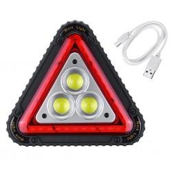Proiector led 30W, 1500LM portabil cu incarcare USB, baterii acumulator si triunghi reflectorizant