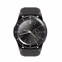 Ceas Smartwatch Techstar® DT No.1 G8, MTK2502, Bluetooth 4.0, SIM, Notificari, Monitorizare Puls, Culoare Negru