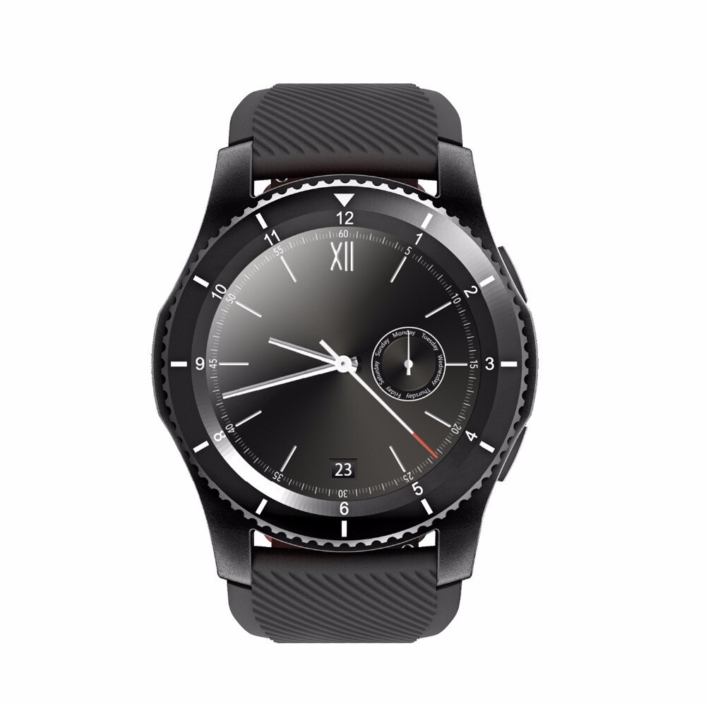 Ceas Smartwatch Techstar® DT No.1 G8, MTK2502, Bluetooth 4.0, SIM, Notificari, Monitorizare Puls, Culoare Negru poza 2021
