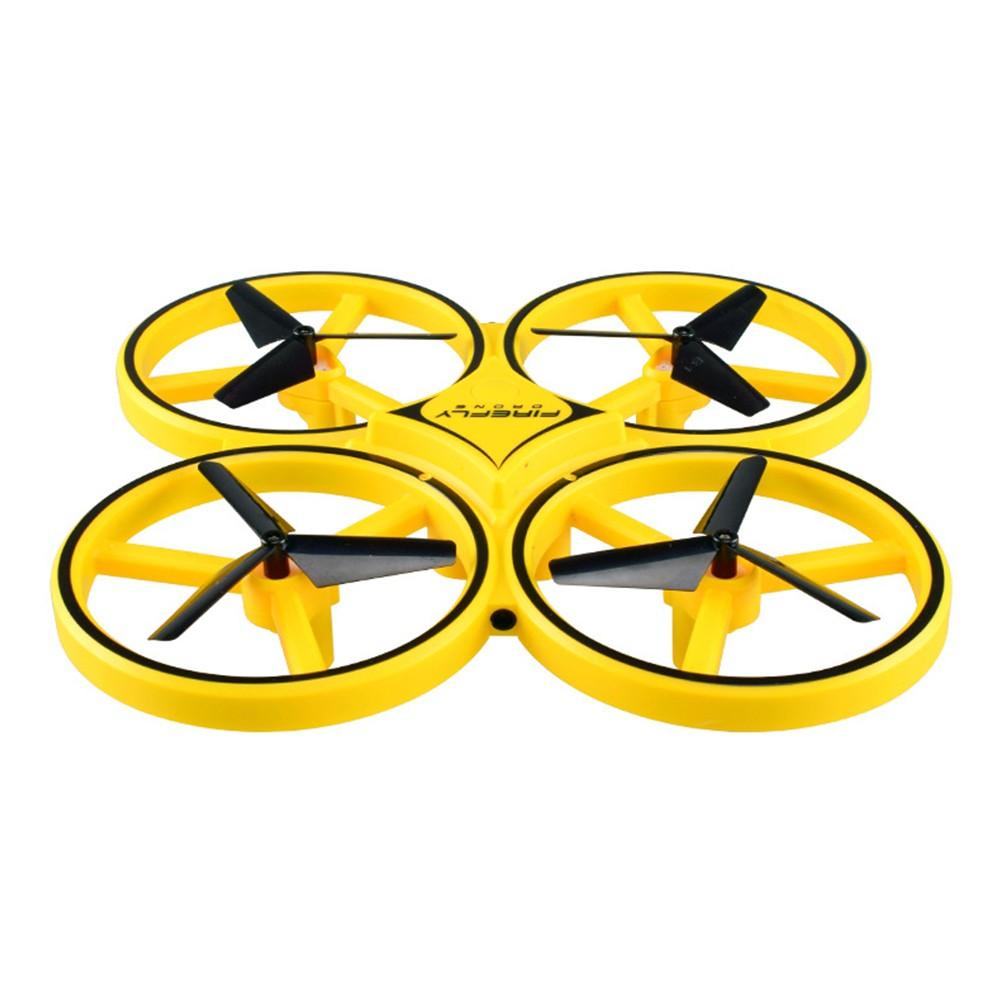 Drona Anti Coliziune, Inteligenta, Cu Led, Techstar® Firefly, Greutate 73g, Rc Gravity Cu Telecomanda, Quadcopter Smart