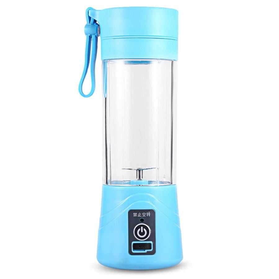 Blender Portabil Techstar® Smart Juicer, Mixer USB de 380 ml, Electric, Albastru imagine techstar.ro 2021