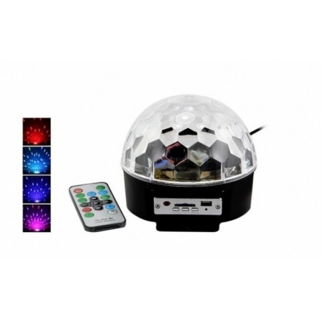 Glob disco cu Mp 3 player si telecomanda