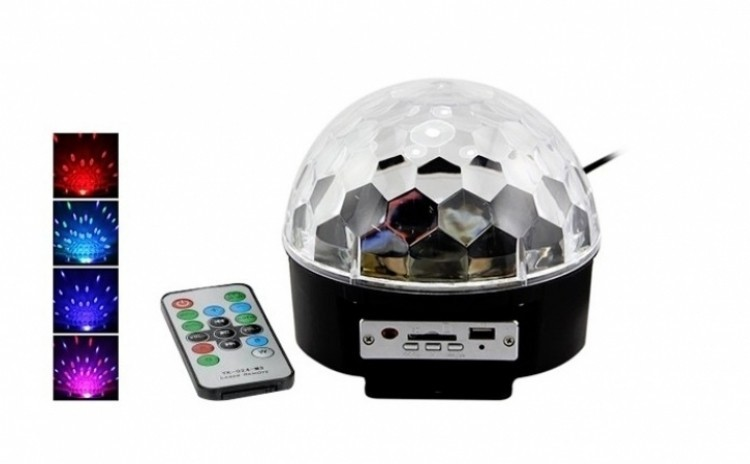 Glob disco cu Mp 3 player si telecomanda imagine techstar.ro 2021