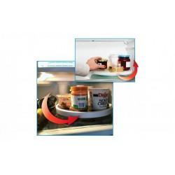 Organizator rotativ tip tava pentru frigider sau dulap, 25 cm