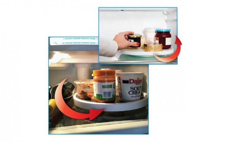 Organizator rotativ tip tava pentru frigider sau dulap, 25 cm imagine techstar.ro 2021