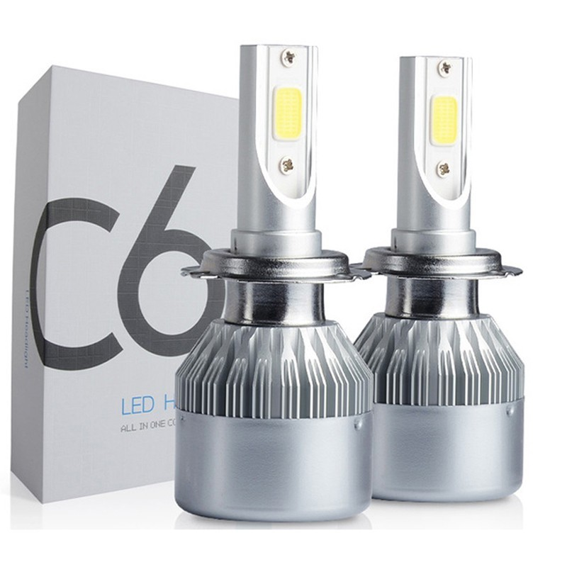 Set 2 Becuri LED Auto H7, 6000K, 36 W, 3800 Lm imagine techstar.ro 2021