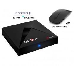 MINI PC ANDROID 9.0, TV BOX, MEDIA PLAYER 4K, A5X MAX, 4GB/64GB