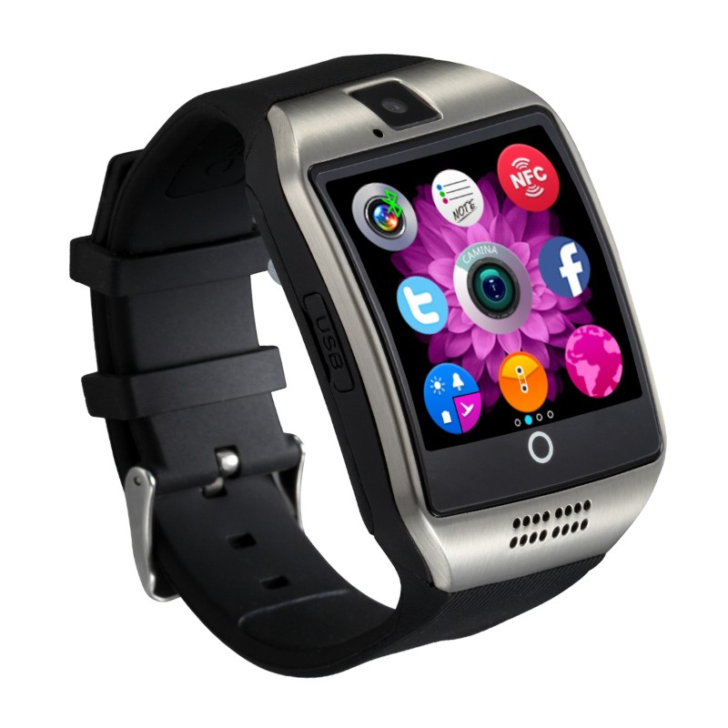 Smartwatch Vogue Q18 Curved cu Camera si Telefon 3G Display 1.54 Bluetooth