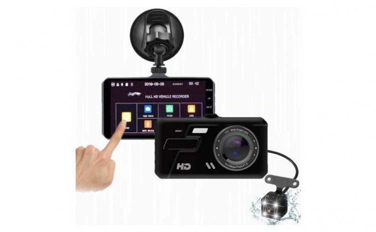 Camera auto cu TouchScreen si ecran 4'' fata+spate imagine techstar.ro 2021