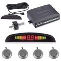 Set Senzori Parcare Auto Detector Parktronic Display Radar Monitor 4 Senzori Gri Deschis