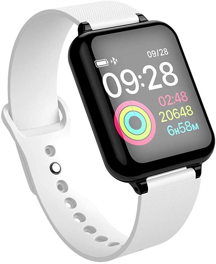 Ceas Smartwatch B57 Waterproof IP65, Fitness Tracker Unisex, Monitorizare Puls, Bluetooth, SIM, Alb poza 2021