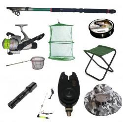 Set cu lanseta pescuit telescopica 3.6m, mulineta CB440 pentru Pescuit Sportiv si accesorii
