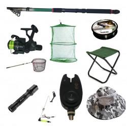 Set cu lanseta pescuit telescopica 3.6m, mulineta CB340 pentru Pescuit Sportiv si accesorii