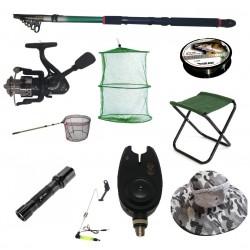 Set cu lanseta pescuit telescopica 3.6m, mulineta CFC1000 pentru Pescuit Sportiv si accesorii