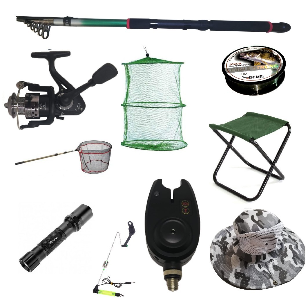 Set cu lanseta pescuit telescopica 3.6m, mulineta CFC1000 pentru Pescuit Sportiv si accesorii imagine techstar.ro 2021