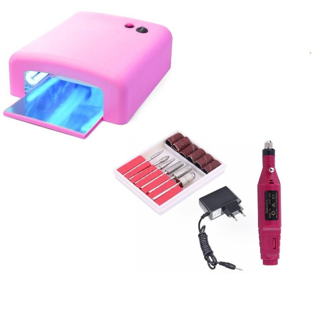 Set lampa UV si freza electrica pentru unghii imagine techstar.ro 2021