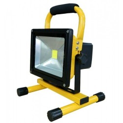 Proiector LED portabil 20W si 1800 Lumeni cu Acumulator si Suport