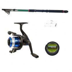 Set pescuit sportiv cu lanseta 2,4m, mulineta YF200, montura si fir