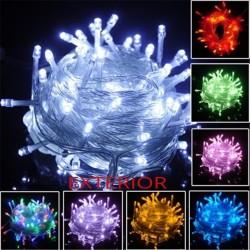 Instalatie Pom Craciun Exterior 100 LED-uri Diverse Culori Fir Transparent