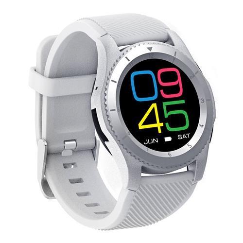 Ceas Smartwatch Techstar® DT No.1 G8, MTK2502, Bluetooth 4.0, SIM, Notificari, Monitorizare Puls, Culoare Alb poza 2021
