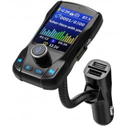 "Modulator FM Transmitator Auto Techstar® EQ-Onever, Bluetooth 4.0, Wireless, Onever, cu Display 1.8"", 3xUSB, HandsFree"