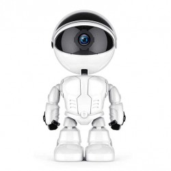 Camera IP Robot Techstar® Fredi Cloud, Home Security, Robot Smart, Auto Tracking, Dual Audio, Aplicatie P2P